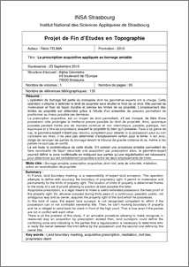 La prescription acquisitive appliqu e au bornage amiable catalogue des m mo - Prescription acquisitive terrain ...